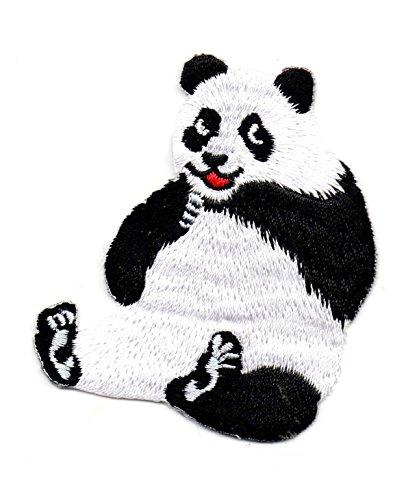 Panda Animal Zoo Bear Cartoon Kinder Cute Smile Patch für Heimwerker-Applikation Eisen auf Patch T Shirt Patch Sew Iron on gesticktes Badge Schild (Cat Bear Kostüm)
