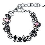 Armbänder Damen MANBARA Frau Charme Armband Kristall Armband Schmuck Geschenk Mutter Schriftzug Armband