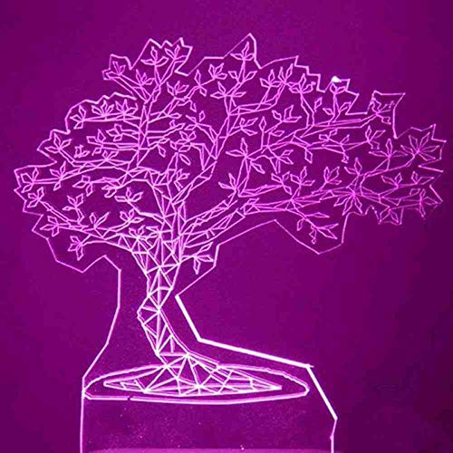 CDBAMX 3D Usb Visuelle Led Bunte Kiefer Modellierung Nachtlicht Innendekor Atmosphäre Tischlampe Kreative Schlaf Leuchte Geschenke