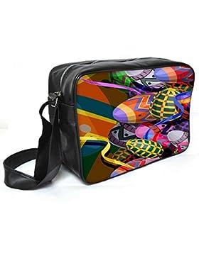 Snoogg Designer Eier 2474Leder Unisex Messenger Bag für College Schule täglichen Gebrauch Tasche Material PU