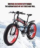 1000W Bici Elettrica 48V Mens di Montagna Adulti E-Bike Batteria al Litio Lega di Alluminio E-Bicicletta 21 velocità 26In Bikes Fat Tire Bicicletta della Strada della Neve con Freni A Disco Idraulici