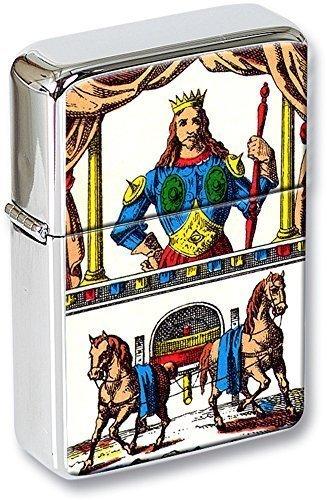 Tarot (Le Chariot, THE CHARIOT) Mechero con tapa EN UNA LATA DE REGALO