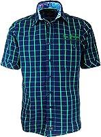 CasaModa - Herren Freizeit Hemd kurzarm, marine grün, kariert, Casual-Fit