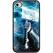 Iphone 4s Funda Case, Thor Hammer Marvel Dust Proof Slim Ultra Thin for Iphone 4 / 4s