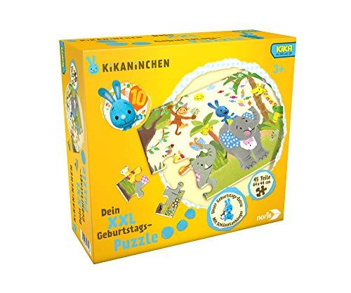 Noris 606031719 XXL Riesenpuzzle Kikaninchen, 45 Teile (64 x 44 cm)