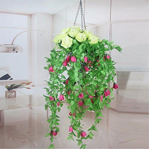 Fiore Di Emulazione Fiori Artificiali 21 Rose Cesto Fiorito Kit Parete Rose Fiore Home Decor Fiore, Sez. F