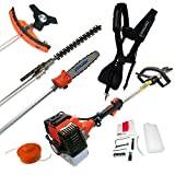 Nemaxx MT52 4 in 1 Garden Tool Hedge Trimmer Chainsaw Petrol Grass Strimmer Pole Pruner