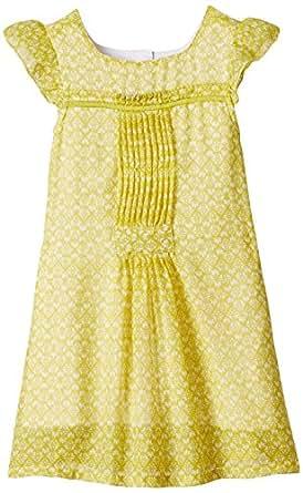 Nauti Nati Girls' Dress (NSS15-461_Lime_4 years)