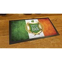 Personalizzato bandiera irlandese Shamrock birra pub Tappetino runner Counter - Colori Bandiera Irlandese