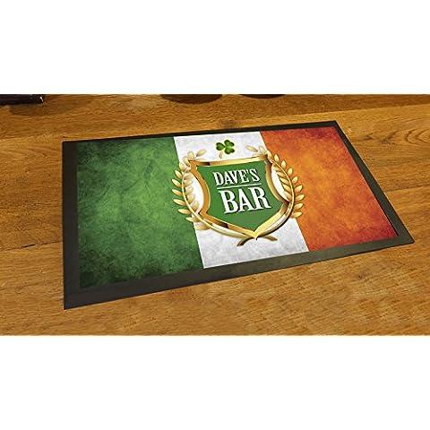 Personalizado bandera de irlandés Shamrock cerveza Pub contador de camino de alfombra mat