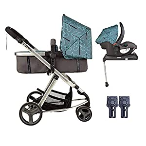 Cosatto Giggle Mix pram and Pushchair in Fjord with car seat Base & raincover   4