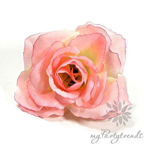 myPartytrends Ansteckrose, Haarrose in Pastell-Cream-Pink; Modell 'Französische Rose' (Ø 11 cm; Höhe 5 cm) (Ansteckrose, Haarblume mit...