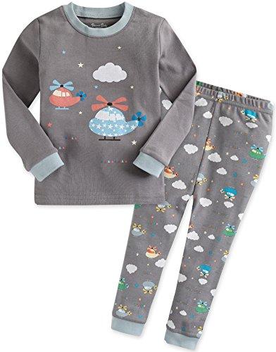 Vaenait baby 74-122 Saeugling Jungen Bekleidung Langarm zweiteilig Schlafanzug niedlich Heeling Copter M