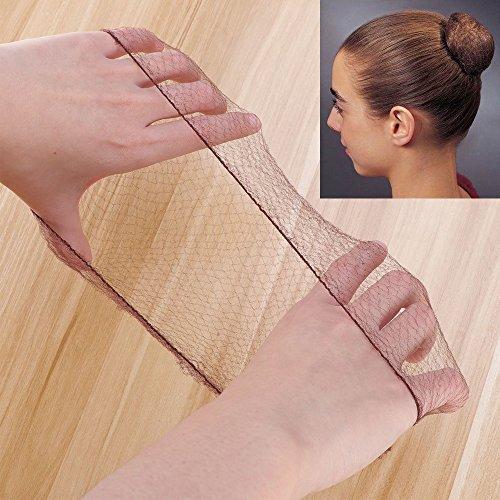 Pixnor capelli reti invisibile bordo elastico maglia caffè confezione da 50
