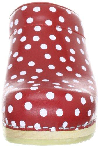 Sanita Wood-Inger open 457009-4, Chaussures femme Rouge (Rouge-V.7)