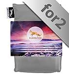 Silkrafox for 2 - ultraleichter Schlafsack für 2 Personen, Hüttenschlafsack, Inlett , Sommerschlafsack, Kunst- Seidenschlafsack, grau