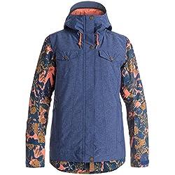 Roxy Ceder Snowboard Jacket Femme, Blau Rot Gelb, XS EU