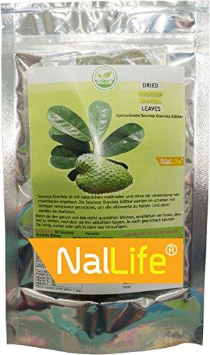 NalLife Die Getrocknete Soursop Graviola Blätter in Verpackung mit 80 Blättern
