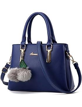 (G-AVERIL) Damen PU Leder Handtasche mit Schulterriemen