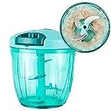 XINGRUI Strumento 900ML Manuale Tritacarne Multifunzione Robot da Cucina Carne Frutta Salsa Pepe Cipolla Dado Chopper Elettrico (Verde) (Colore : Green)