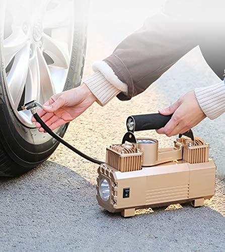 Luftkompressor-Pumpe 12V Elektrische Tragbare 180 W Digital-Reifen-Inflator LED-Beleuchtung Mit Zusätzlichen Düsen-Adaptern Für Auto-Fahrrad-Reifen Und Andere Automobile