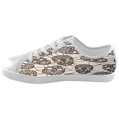 Dalliy Flower Sugar skull Kids Canvas shoes Schuhe Footwear Sneakers shoes Schuhe D