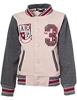 24brands - Jungen Kinder College Jacke mit Stickerei - 2463