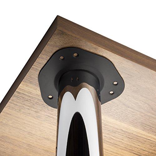 Juego de 4 SO-TECH® Patas de mesa Ø 60 mm Cromo pulido Alto 710 mm
