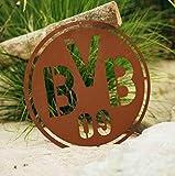 Garten Himmel BVB Borussia Dortmund Wandschild in Edelrostoptik
