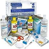 AIESI kit di reintegro ALLEGATO 1 SENZA SFIGMOMANOMETRO pacco medicazione per cassetta armadietto di pronto soccorso aziende più 3 dipendenti # Conforme DM388/DL81# Made in Italy