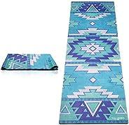 Yoga Design Lab FMA-YDL027 Travel Tribal Blue Training Mat