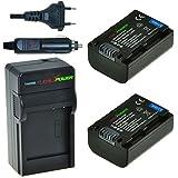 ChiliPower Sony NP-FV50, NP-FV30, NP-FV40 Kit: 2x Batterie (950mAh) + Chargeur pour Sony DCR-SR15, SR21, SR68, SR88, SX15, SX21, SX44, SX45, SX63, SX65, SX83, SX85, FDR-AX100, HDR-CX130, CX130, CX150, CX160, CX190, CX230, CX260V, CX290, CX300, CX330, CX350V, CX360V, CX380, CX430V, CX520V, CX560V, CX580V, CX700V, CX760V, CX900, HC9, PJ10, PJ30V, PJ50, PJ230, PJ260V, PJ380, PJ430V, PJ540, PJ580V, PJ650V, PJ710V, PJ790V, PJ810, TD30V, XR150, XR160, XR260V, XR350V, XR550V, HXR-NX30U, NX70U