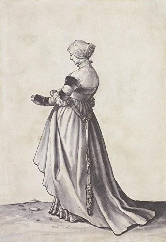 Das Museum Outlet-Basel Frau nach links gedreht. Kostüm study. - Link Kostüm Muster