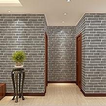 Yanzi Moderne Chinesische Ziegel Muster 3D Stereo Tapete Schlafzimmer  Schlafzimmer Wohnzimmer TV Wand Hintergrundbild,Grey
