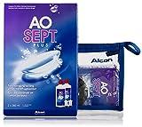 AOSEPT Plus 2x360ml inkl. Reise-Set (90ml) – Kontaktlinsen-Pflegemittel – Kombilösung für das Reinigen, Desinfizieren und Aufbewahren der Linse (All-In-One Lösung)