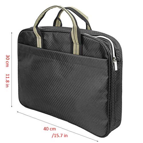 Griff Business Mappe Padfolio Organizer Laptop Tablet Reißverschluss Aktentasche Bag Oxford Hand Datei Ordner Paket Dokument Halter Tasche für Büro Schule -
