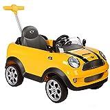 ROLLPLAY Push Car mit ausziehbarer Fußstütze, Für Kinder ab 1 Jahr, Bis max. 20 kg, MINI Cooper, Gelb