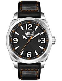 Bernex EV-215-003 - Reloj analógico para caballero de cuero Resistente al agua gris