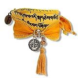 Anisch de la Cara Damen Wunsch-Armband - Earth Norbu - Jaspis tibetische Gebetsfahne gelb, ta-earth-norbu