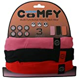 Oxford Comfy Neck Warmers Lightweight Balaclava (Pack of 3) - Pink/Black/Red, One Size