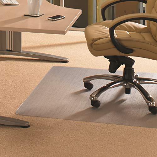 """Floortex FC1120025EV Bodenschutzmatte / Bürostuhlunterlage \""""advantagemat\"""", 120 x 200 cm, aus phtalatfreiem Vinyl, transparent, rechteckig, TÜV zertifiziert, für niederflorige Teppichböden"""