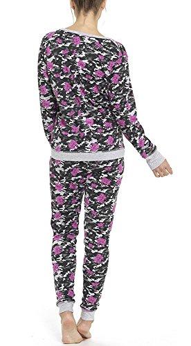 Top imprimé à manches longues et jambières Printemps Printemps Pijamas Floral