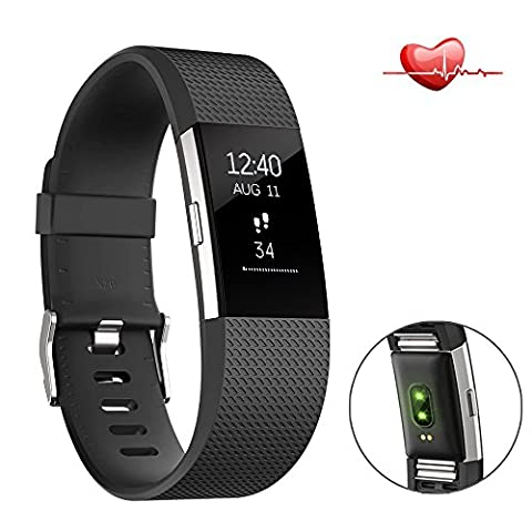 Betheaces Smart Bracelet, Fitness Tracker, Heart Rate Blood Pressure Monitor, Bluetooth Smart Watch with Stopwatch Weather Forecast Sleep Monitor Pedometer Wristband Calorie Counter Call/SMS/QQ/Wechat/Sedentary/ Alarm clock Reminder (Black)