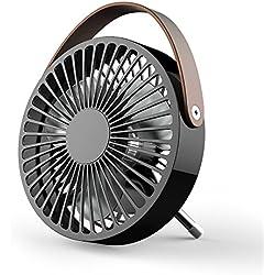 Mini USB Ventilateur, Elekin Mini USB Fans Portable à Vent Frais Ventilateur Compatible Pour Bureau De plein air Voyage [Noir]