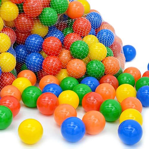 LittleTom 300 Bälle für Bällebad 6cm Bunte Spielbälle Plastikbälle Kinderbälle Gewerbe Qualität