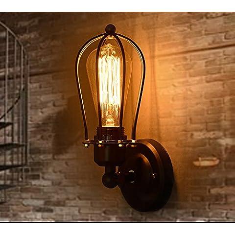 yuewei®New Modern Edison Personalidad Iluminación Industrial Contador lámparas lámpara de pared de la vendimia Luces Edison Bulbos AC