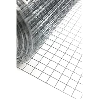 "Easipet 1"" x 1"" welded wire mesh, 15m or 30m roll in 3 widths (48"" x15m) 1"
