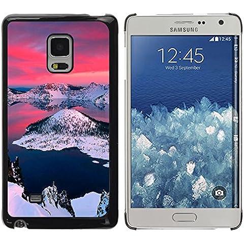 Caucho caso de Shell duro de la cubierta de accesorios de protección BY RAYDREAMMM - Samsung Galaxy Mega 5.8 - Alaska Aurora Borealis