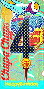 Cereria de Giorgio ch00002_ 64vela Cumpleaños gigante Chupa Chups Número 4con soporte