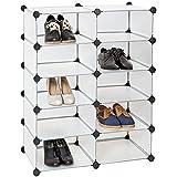 TecTake Estantería armario organizador para zapatos, habitación infantil blanco